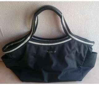 Agnes b Bag 黑色 手挽袋 餃子袋