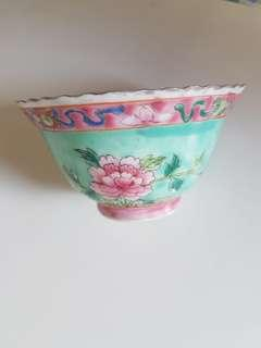 Peranakan straits Chinese Apple Green bowl/ cup