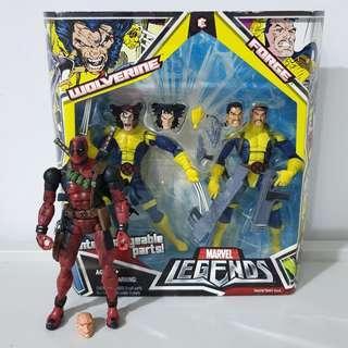Marvel Legends Toybiz Deadpool, Forge and Wolverine 2 pack