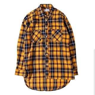 🇺🇸歐美Streetwear寬鬆下擺格仔恤衫