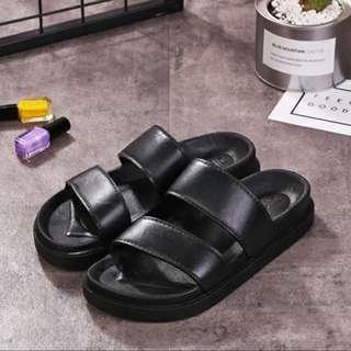 [INSTOCK] Black Double Strap Sandals