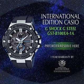 CASIO INTERNATIONAL EDITION G SHOCK G STEEL GST-B100XA-1A