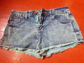 Cotton On Blue green Denim Shorts size 36