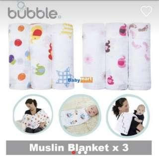 Bubble Bamboo Swaddle Wrap (bedong bayi)