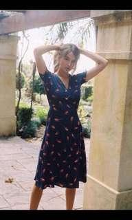 Chiffon fabric dress