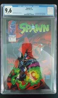Spawn #1 CGC 9.6 (1992 1st Series) 1ST Appearance of Spawn! Todd McFarlane's Awesomeness! Super-Key Book!