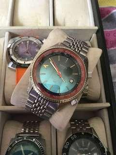 Vintage caruda world time automatic watch