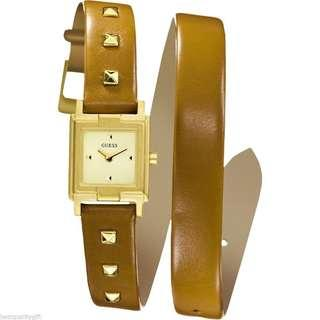 Guess Ladies Watch with Gold Stud