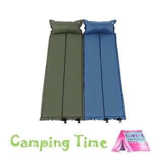 露營單人自動充氣極原墊 Camping Floating Bed