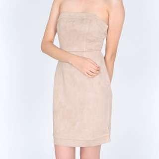 🚚 MDS Suede Tube Dress
