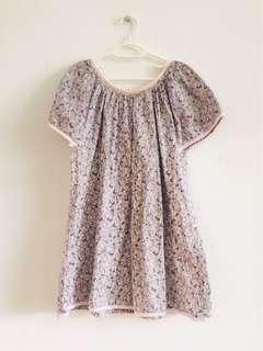 6 to 8 years old Hootsie cotton flower top