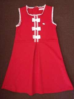 Elle red dress size 120