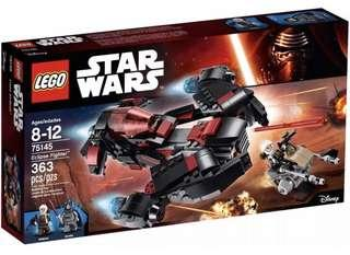 LEGO 75145 Star Wars Eclipse Fighter (brand new but no minifigure)