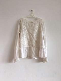 6 to 8 years old H&M white lace top