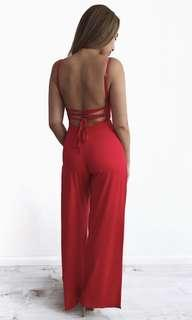 Babyboo Fashion Red Jumpsuit