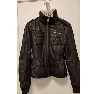 SuperDry leather Jacket (Sz. S/M)