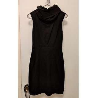 Zara Black Cowl Neck Dress (Sz S)