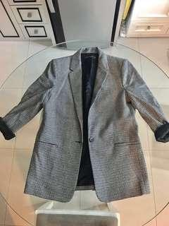 Zara houndstooth / tweed blazer / outer REPRICE ONLY 250.000