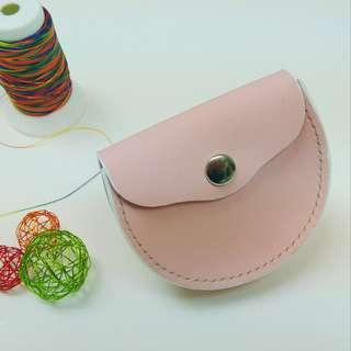 *現貨* Leather Coins Bag Pink color 粉紅色真皮散紙包