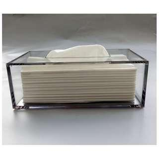 🚚 Transparent Acrylic Tissue Box