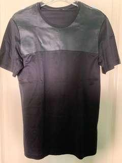 COS Black Leather detail T-Shirt