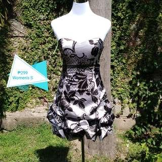💐Silver and Black Cocktail Dress