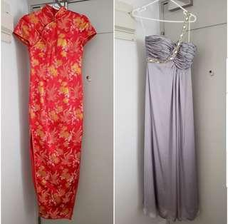 2 x Beautiful wedding, evening and party gowns