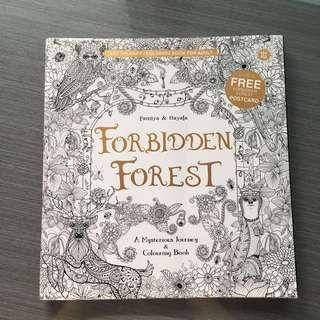 Arteraphy - coloring books, forbidden forest series