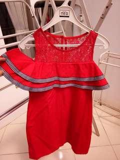 Red Brukat Dress #bersihbersih