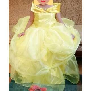 princess belle beauty and the beast yellow gown (custom made)