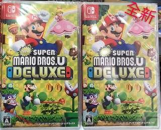 全新Switch Super Mario Bros.U Deluxe 中英日文版 平郵免費
