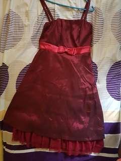 Red Dress Satin