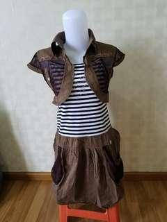 OBRALL Dress Plus Bolero