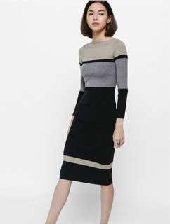 🚚 BNWT LB Tadia Colourblock Knit Midi Dress