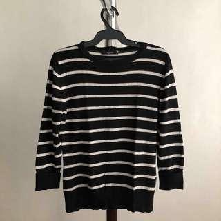 Bayo black&white stripes long-sleeves top