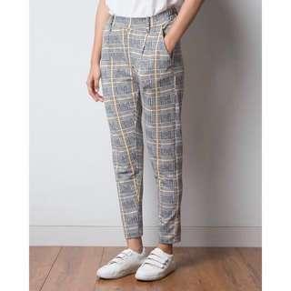 Grid Pants Gray