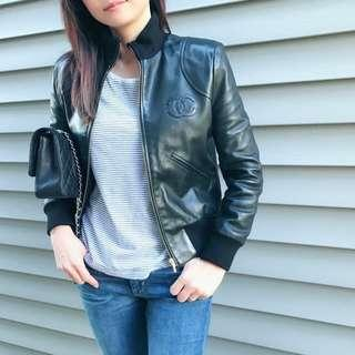 Chanel leather jacket 100% real