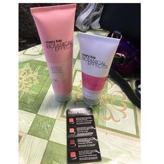 Mary Kay Botanical Effect Cleanser and Moisturizer plus FREE Lipstick Samplers