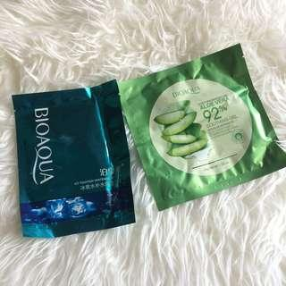 Masker Bioaqua Aloevera & Ice Fountain Whitening