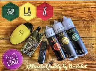 No Label e-liquid for vape