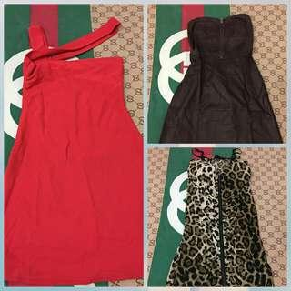 Borongan Mini dress kemben (3pcs)