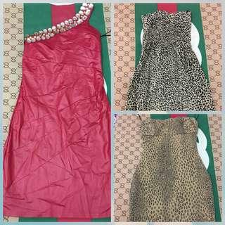 Borongan mini dress 3 pcs
