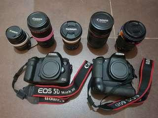 Canon 5D Mark III / 60D package with Lenses