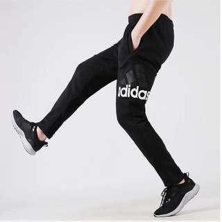 Adidas長褲 愛迪達長褲 運動長褲 大Logo褲子 慢跑褲 透氣休閒褲 棉褲黑灰兩色CE9345