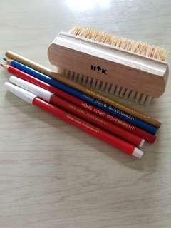 HK Government 香港政府木刷顏色筆鉛筆水筆全套