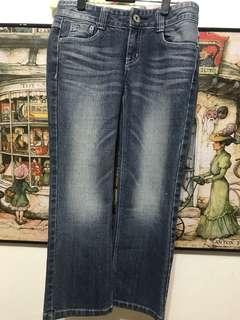 🚚 義大利Lindarico女牛仔褲,7分褲、低腰30吋、檔21、長76公分、管18公分