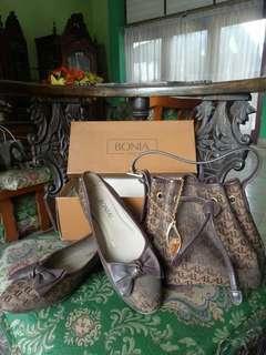 Bonia bundel tas dan sepatu size38