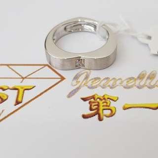18k WG Heart-shape Diamond Ring