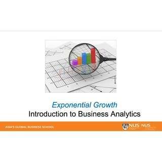 NUS DSC1007X/DAO1704X Business Analytics