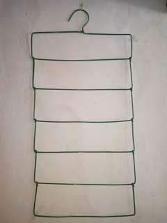 Hanger (Gantungan) jilbab kawat tebal 6susun